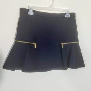 Michael Kors Navy Blue Zip Flounce Mini Skirt Sz 6